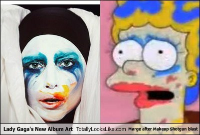 marge simpson totally looks like lady gaga funny