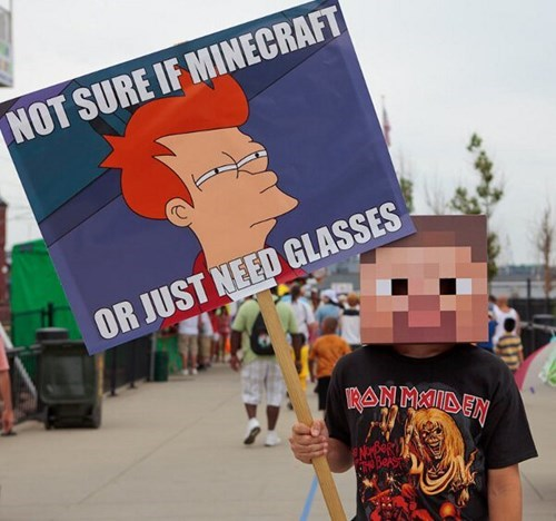 not sure if cosplay IRL minecraft - 7712985088