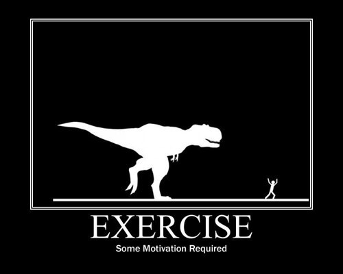motivation exercise dinosaur funny