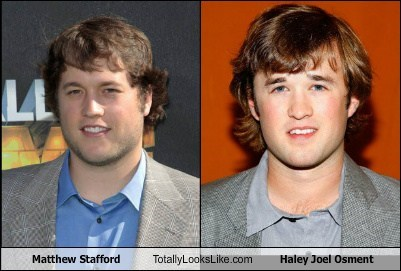 haley joel osment,matthew stafford,totally looks like,funny