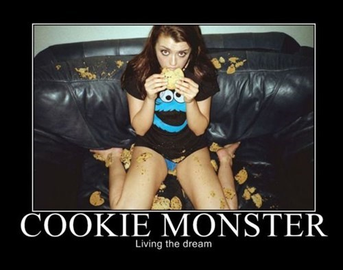 Sexy Ladies Cookie Monster cookies funny - 7713182976