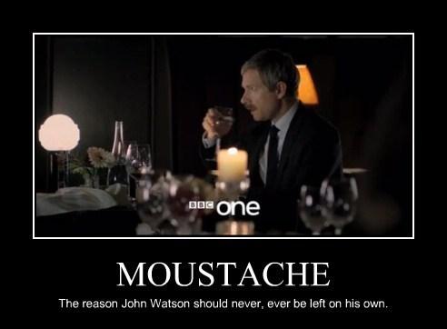 moustache Sherlock funny Watson - 7713252608