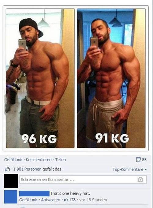 selfie fitness hats muscles - 7713268480