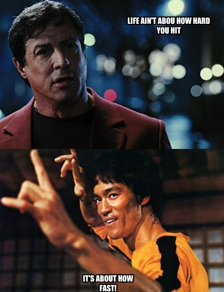 wisdom Sylvester Stallone bruce lee funny - 7714190336