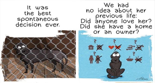 adopt dogs adoption illustrations adopted doggo comic story web comics beautiful - 7714309