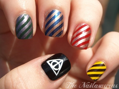 Harry Potter DIY nail art - 7715708416