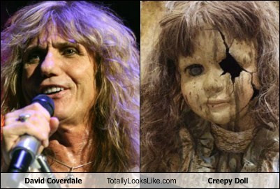 david coverdale,whitesnake,totally looks like,creepy dolls,funny