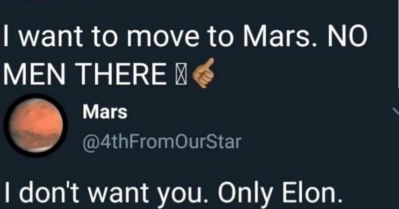 twitter elon musk Mars social media ridiculous funny space - 7715845