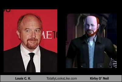 kirby o'neil,louis ck,totally looks like,funny