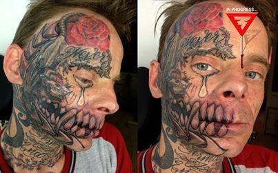 tattoos face tats tears funny - 7717388544