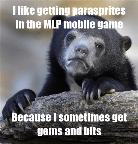 parasprites iOS game Confession Bear