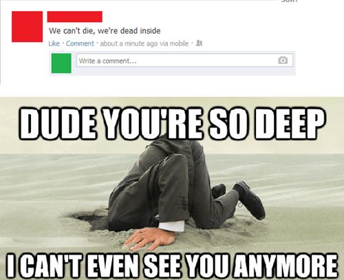 stfu facebook so deep - 7718241792