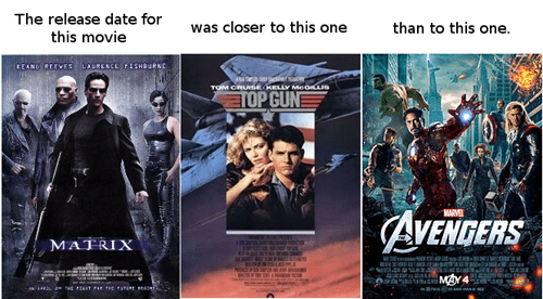 the matrix,top gun,nostalgia,movies,avengers