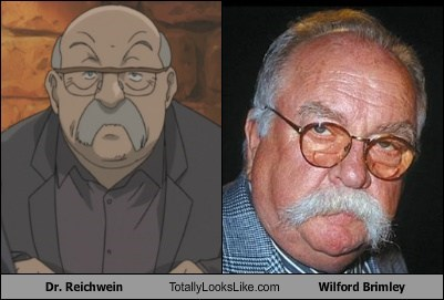 dr-reichwein,anime,totally looks like,wilford brimley,funny