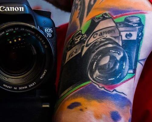 wtf tattoos cameras funny - 7718972160