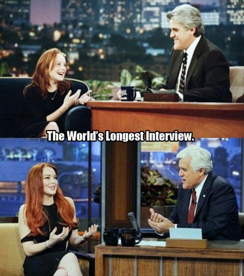 jay leno Tonight Show interview lindsey lohan - 7719618816