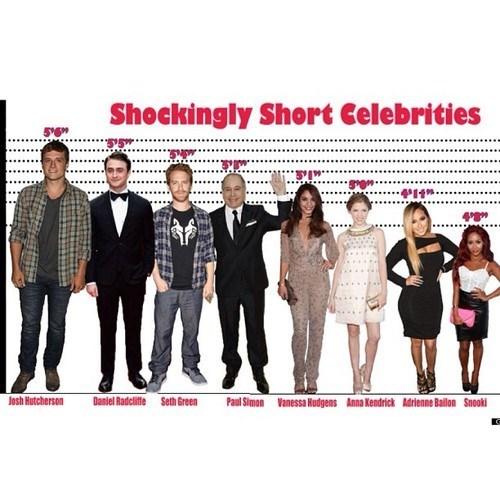 Daniel Radcliffe,snooki,vanessa hudgens,seth green,anna kendrick,josh hutcherson,celeb,graph,short
