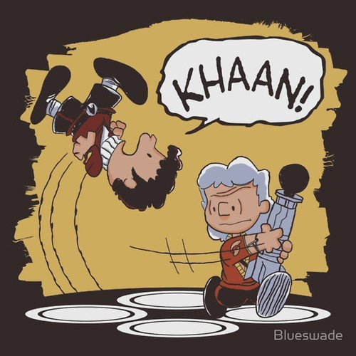 peanuts khan kirk Star Trek james t kirk