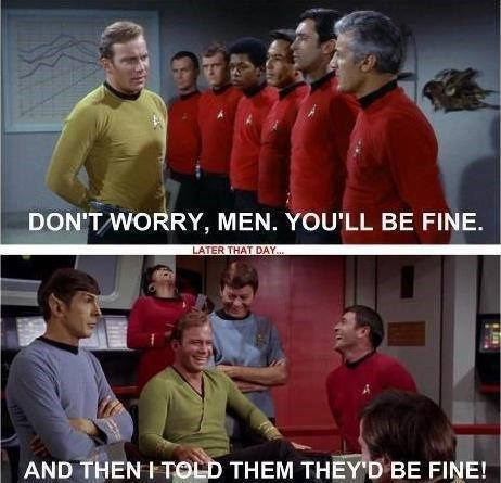 red shirts,Star Trek,comixed,james t kirk
