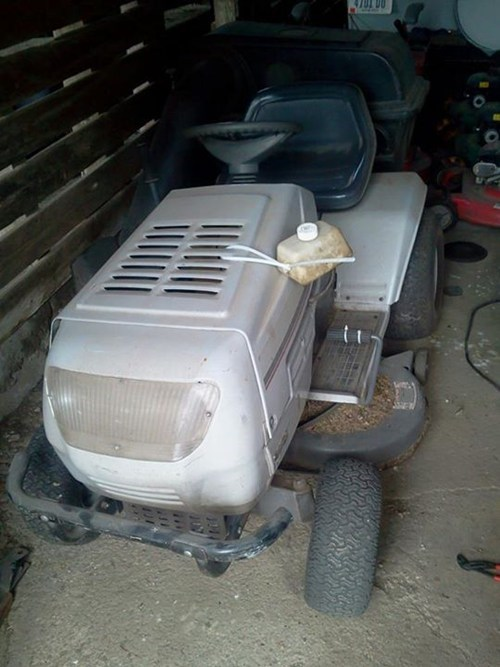 gas tank lawn mower there I fixed it g rated