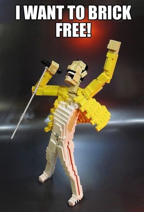 queen,freddie mercury,blocks,lego