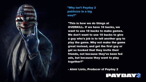 payday 2 video game companies - 7719917312