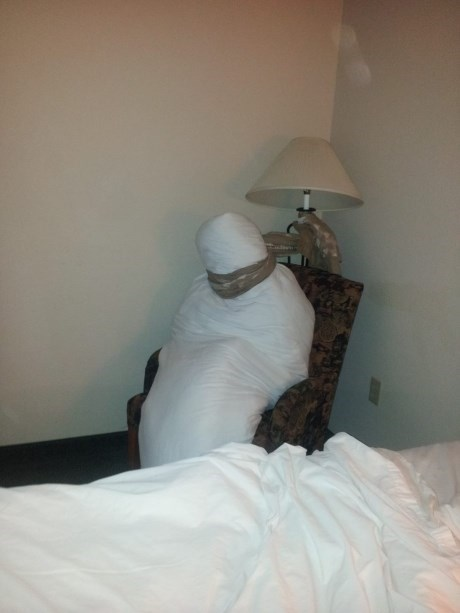 hotel sheet mummy house keeping human - 7719984128