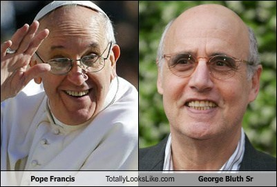 pope totally looks like arrested development funny george bluth