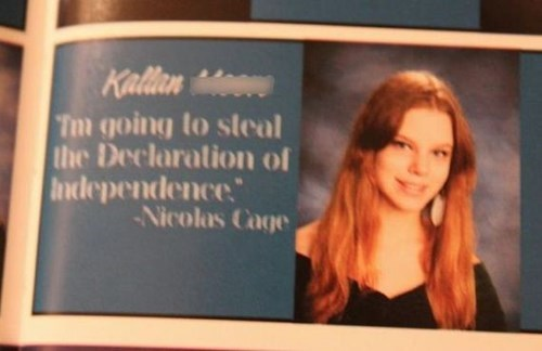 quotes yearbook photos nicholas cage funny - 7720386048