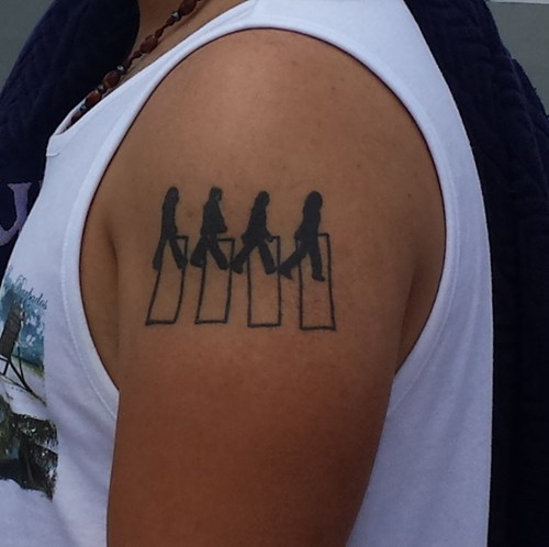 the Beatles,abbey road,tattoos,funny