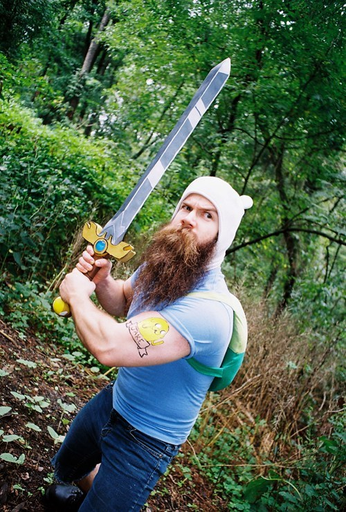 cosplay,cartoons,finn the human,adventure time