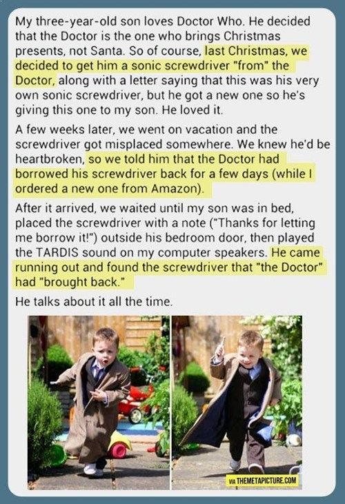 sonic screwdriver,kids,cute,parenting