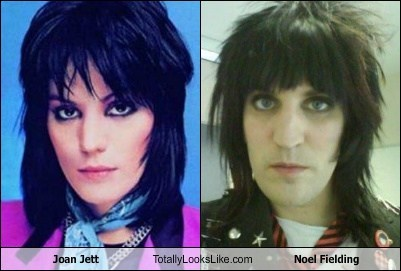 joan jett,Noel Fielding,totally looks like,funny