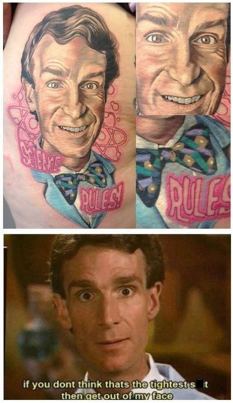 bill nye,awesome,tattoo,funny