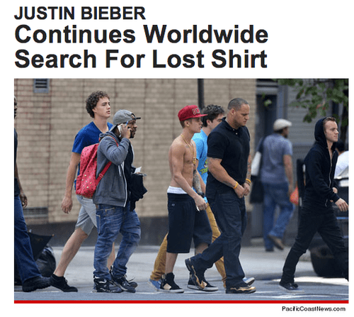 news FAIL shirtless justin bieber - 7721956352