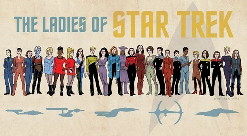 TNG,scifi,TOS,voyager,Star Trek,ds9,ladies