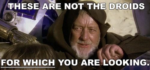 obi-wan kenobi Alec Guinness grammar star wars droids - 7722021888