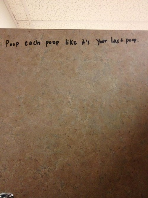 poop feces carpe diem bathroom - 7722125056
