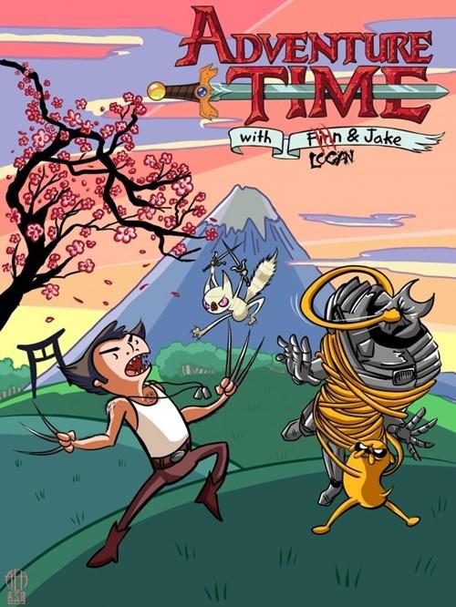 crossover Fan Art x men wolverine adventure time - 7722142976