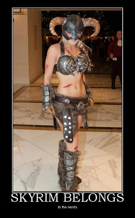 Sexy Ladies cosplay awesome Skyrim funny - 7722203392