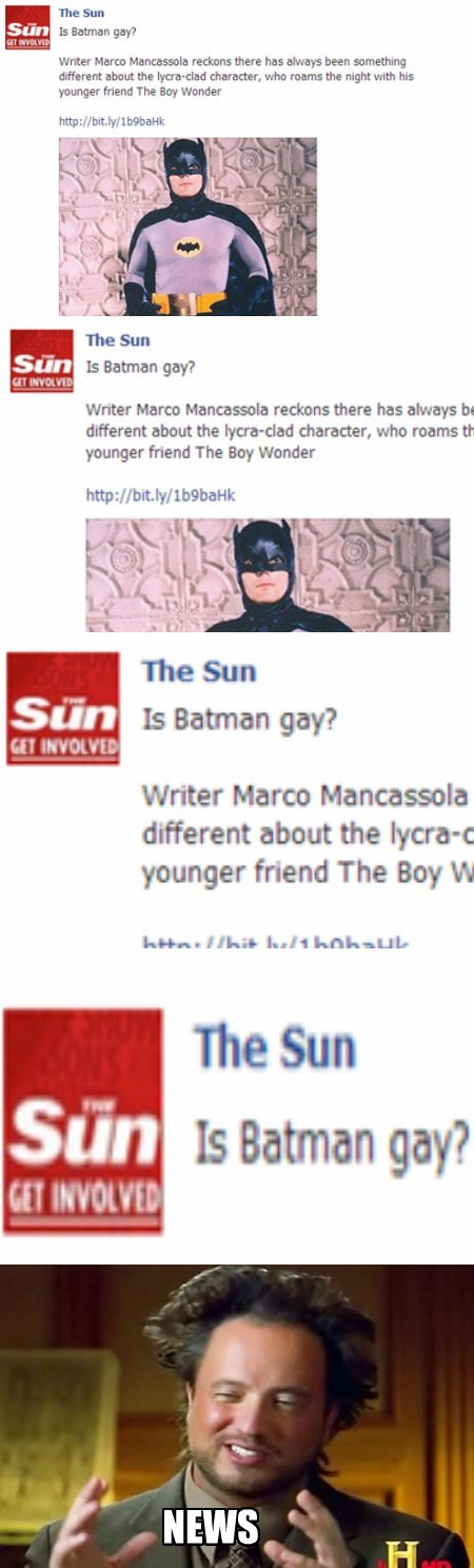 news batman The Sun funny - 7722358784