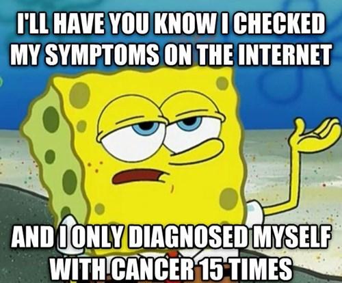 self diagnosis SpongeBob SquarePants Memes - 7722401536
