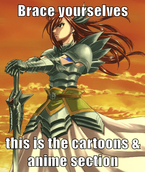 anime,brace yourselves,erza scarlet,fairy tail