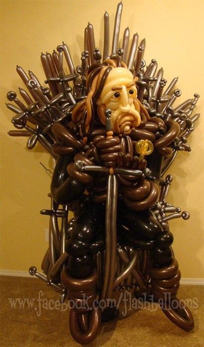 Game of Thrones,Balloons,nerdgasm,funny