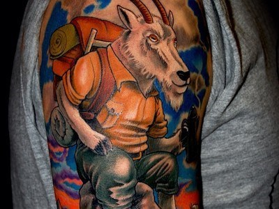 cool goats tattoos mountain goats funny g rated Ugliest Tattoos - 7722441216