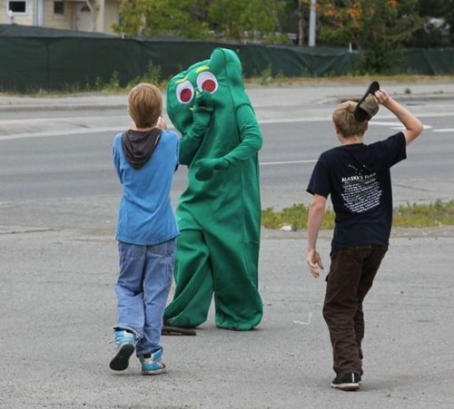 gumby oh god why funny - 7722839040