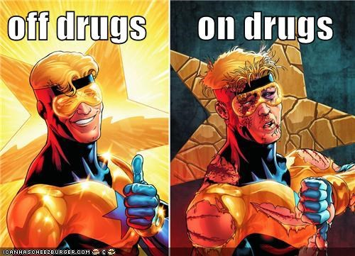 drugs,DC,booster gold