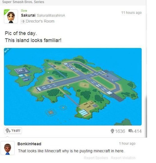 pilotwings,minecraft,funny,nintendo