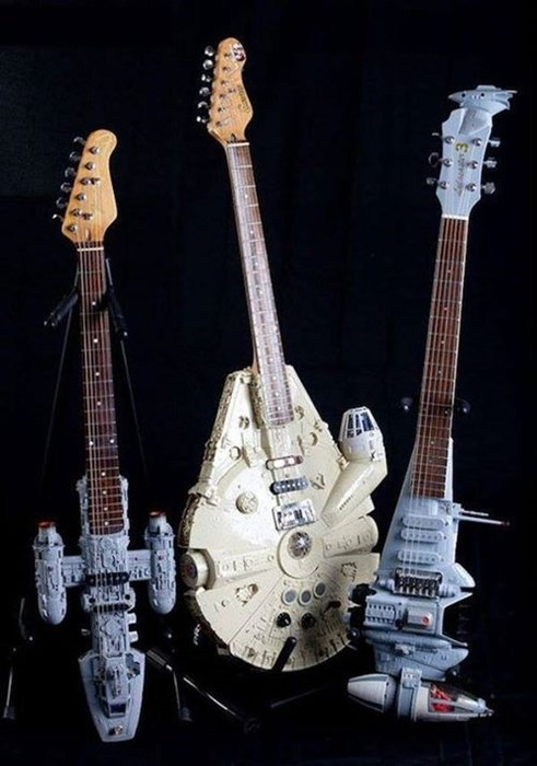 Music,Millenium Falcon,star wars,guitars