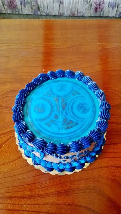 cake circular gallifreyan doctor who - 7724566784